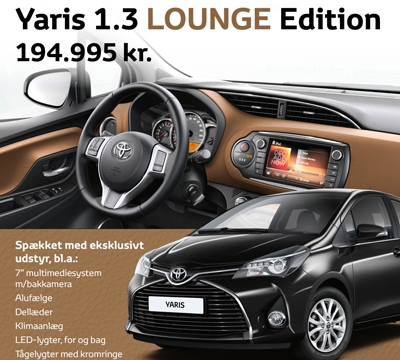 Yaris 1,3 Lounge Edition
